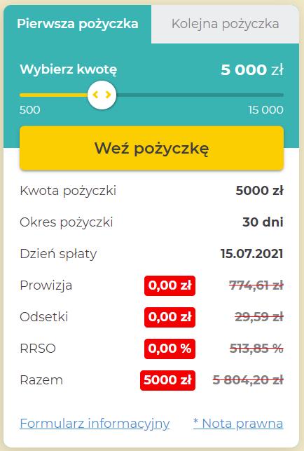 Fot. Screen / Finbo.pl (na dzień 15.06.2021)